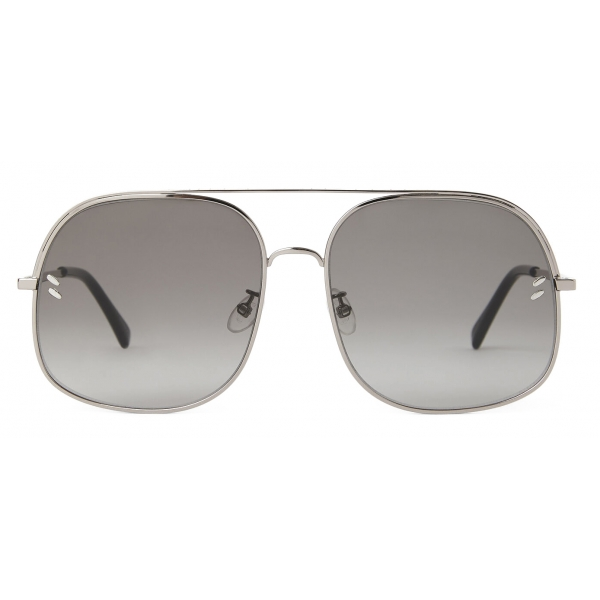 Stella McCartney - Occhiali da Sole Quadrati - Rutenio Chiaro Lucido - Occhiali da Sole - Stella McCartney Eyewear