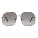 Stella McCartney - Square Sunglasses - Shiny Light Ruthenium - Sunglasses - Stella McCartney Eyewear