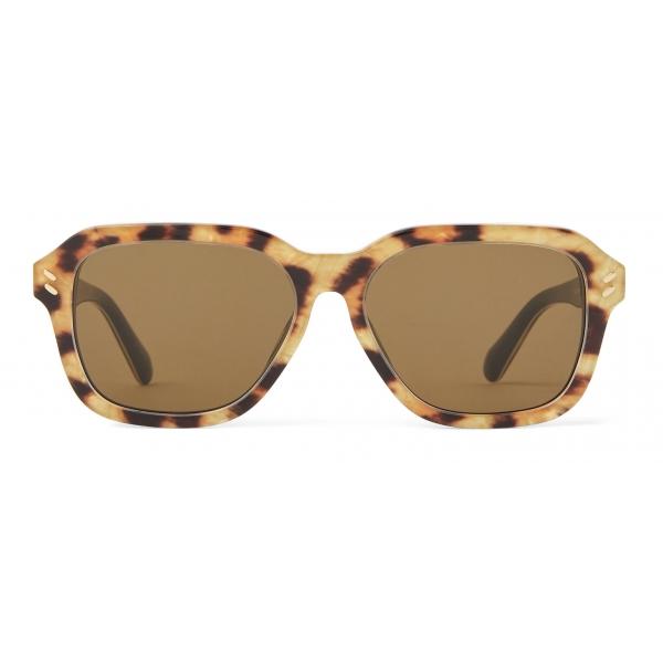 Stella McCartney - Square Sunglasses - Leopard - Sunglasses - Stella McCartney Eyewear