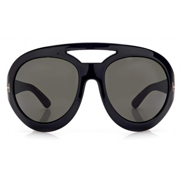 Tom Ford - Serena Sunglasses Rotondi Oversized - Nero - FT0886 - Occhiali da Sole - Tom Ford Eyewear