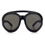 Tom Ford - Serena Round Oversized Sunglasses - Black - FT0886 - Sunglasses - Tom Ford Eyewear