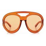 Tom Ford - Serena Round Oversized Sunglasses - Light Brown - FT0886 - Sunglasses - Tom Ford Eyewear