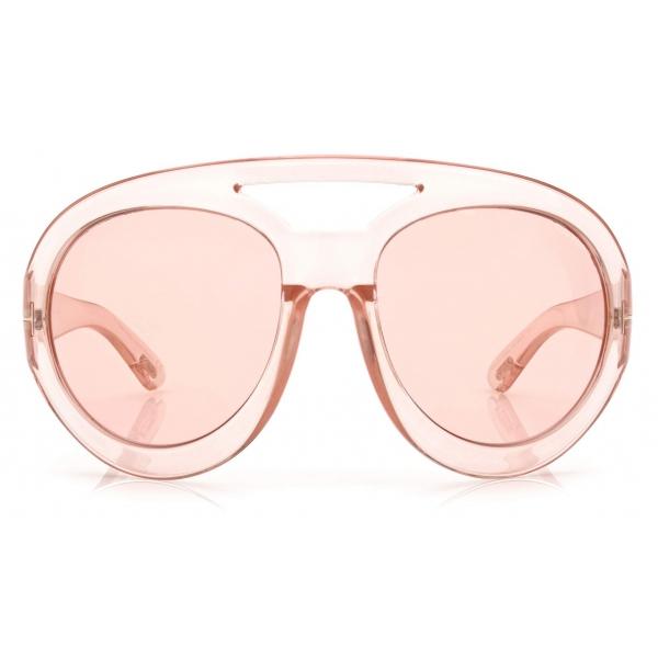 Tom Ford - Serena Sunglasses Rotondi Oversized - Rosa - FT0886 - Occhiali da Sole - Tom Ford Eyewear