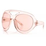 Tom Ford - Serena Round Oversized Sunglasses - Pink - FT0886 - Sunglasses - Tom Ford Eyewear