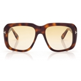 Tom Ford - Bailey Sunglasses - Square Sunglasses - Tartoise - FT0885 - Sunglasses - Tom Ford Eyewear