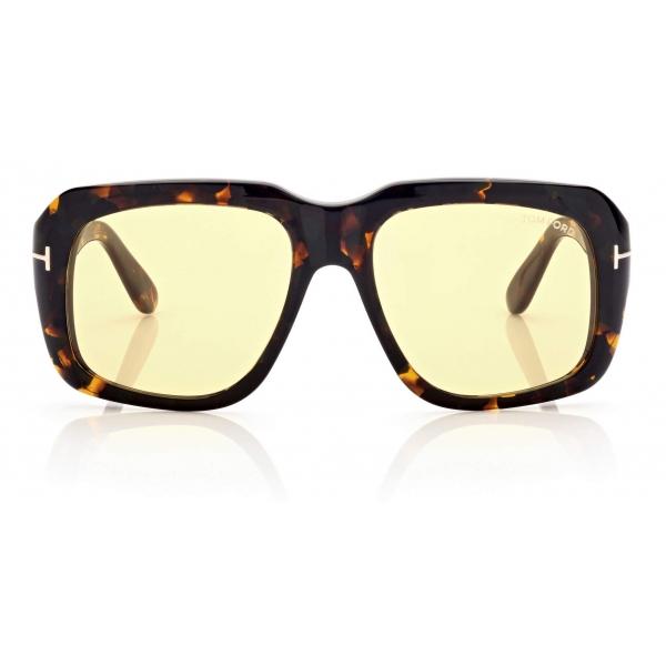 Tom Ford - Bailey Sunglasses Quadrati - Ambra Avana - FT0885 - Occhiali da Sole - Tom Ford Eyewear