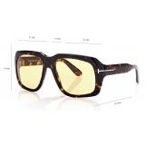 Tom Ford - Bailey Sunglasses - Square Sunglasses - Amber Havana - FT0885 - Sunglasses - Tom Ford Eyewear