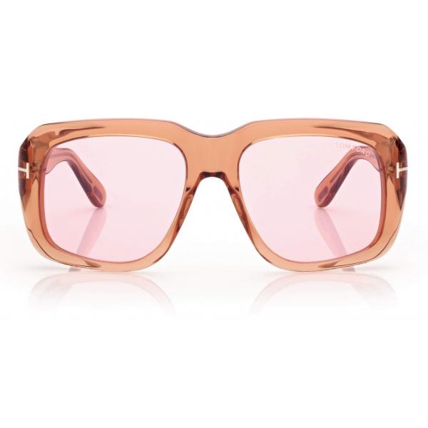 Tom Ford - Bailey Sunglasses Quadrati - Marrone Rosa - FT0885 - Occhiali da Sole - Tom Ford Eyewear