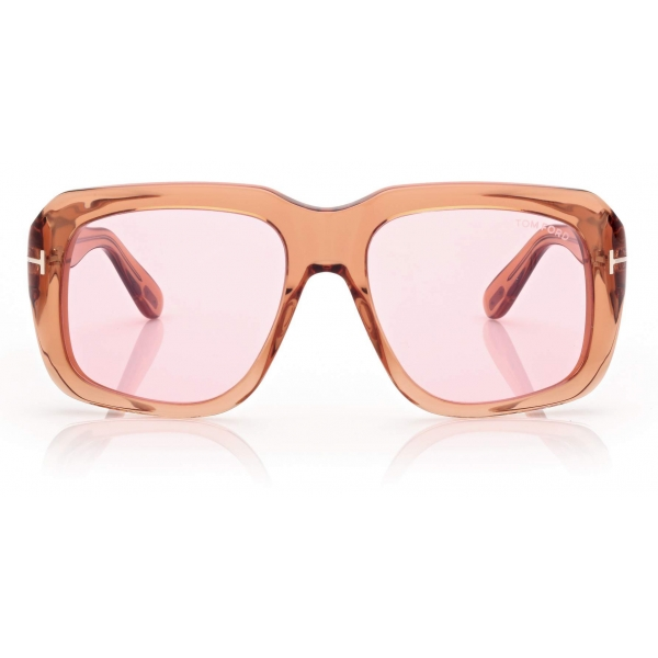 Tom Ford - Bailey Sunglasses - Square Sunglasses - Brown Pink - FT0885 - Sunglasses - Tom Ford Eyewear