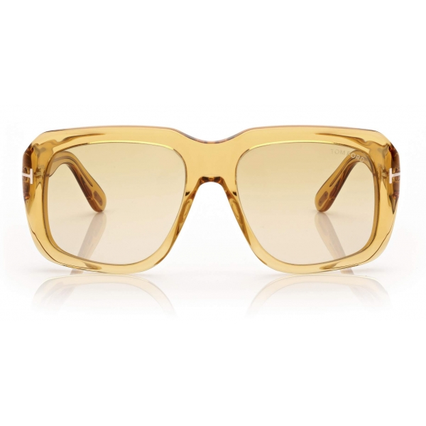 Tom Ford - Bailey Sunglasses Quadrati - Giallo Lucido - FT0885 - Occhiali da Sole - Tom Ford Eyewear