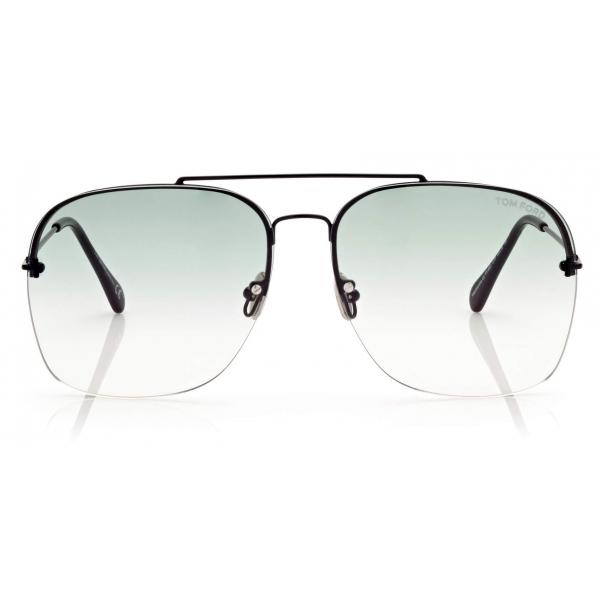 Tom Ford - Mackenzie Sunglasses Pilota - Nero Lucido - FT0883 - Occhiali da Sole - Tom Ford Eyewear