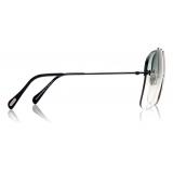 Tom Ford - Mackenzie Sunglasses - Pilot Sunglasses - Shiny Black - FT0883 - Sunglasses - Tom Ford Eyewear