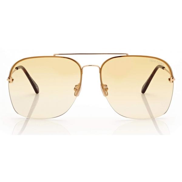 Tom Ford - Mackenzie Sunglasses Pilota - Marrone - FT0883 - Occhiali da Sole - Tom Ford Eyewear