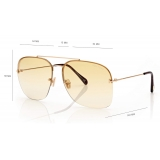 Tom Ford - Mackenzie Sunglasses - Pilot Sunglasses - Brown - FT0883 - Sunglasses - Tom Ford Eyewear