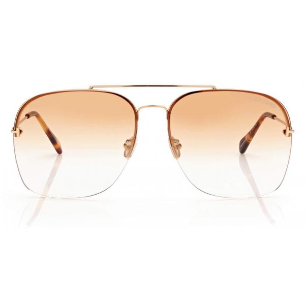 Tom Ford - Mackenzie Sunglasses - Pilot Sunglasses - Oro - FT0883 - Sunglasses - Tom Ford Eyewear
