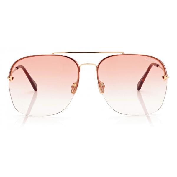 Tom Ford - Mackenzie Sunglasses Pilota - Oro Lucido - FT0883 - Occhiali da Sole - Tom Ford Eyewear