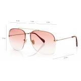 Tom Ford - Mackenzie Sunglasses - Pilot Sunglasses - Shiny Deep Gold- FT0883 - Sunglasses - Tom Ford Eyewear