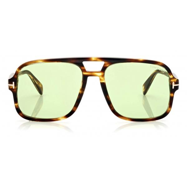 Tom Ford - Falconer Sunglasses Pilota - Havana Scuro- FT0884 - Occhiali da Sole - Tom Ford Eyewear