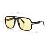 Tom Ford - Falconer Sunglasses - Pilot Sunglasses - Shiny Black Brown - FT0884 - Sunglasses - Tom Ford Eyewear