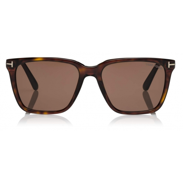 Tom Ford - Garrett Sunglasses - Occhiali da Sole Quadrati - Havana Scuro - FT0862 - Occhiali da Sole - Tom Ford Eyewear
