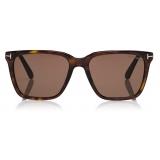 Tom Ford - Garrett Sunglasses - Square Sunglasses - Dark Havana - FT0862 - Sunglasses - Tom Ford Eyewear