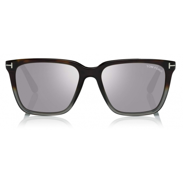 Tom Ford - Garrett Sunglasses - Occhiali da Sole Quadrati - Havana Fumo - FT0862 - Occhiali da Sole - Tom Ford Eyewear