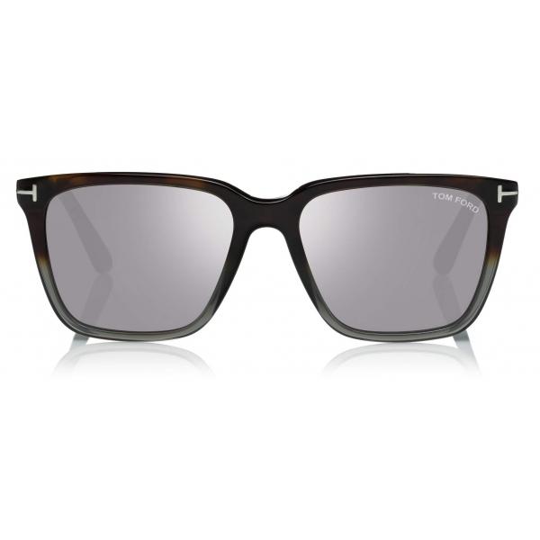Tom Ford - Garrett Sunglasses - Square Sunglasses - Havana Smoke - FT0862 - Sunglasses - Tom Ford Eyewear