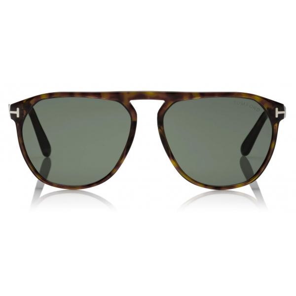 Tom Ford - Jasper Sunglasses - Occhiali da Sole Quadrati - Havana Scuro - FT0835 - Occhiali da Sole - Tom Ford Eyewear