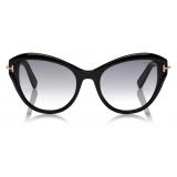 Tom Ford - Leigh Sunglasses - Cat-Eye Sunglasses - Black - FT0850 - Sunglasses - Tom Ford Eyewear