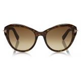 Tom Ford - Leigh Sunglasses - Cat-Eye Sunglasses - Dark Havana - FT0850 - Sunglasses - Tom Ford Eyewear
