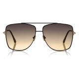 Tom Ford - Reggie Sunglasses - Square Oversized Sunglasses - Black - FT0838 - Sunglasses - Tom Ford Eyewear