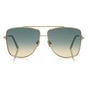 Tom Ford - Reggie Sunglasses - Square Oversized Sunglasses - Rose Gold Blue - FT0838 - Sunglasses - Tom Ford Eyewear