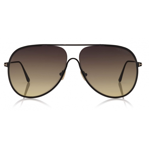 Tom Ford - Alec Sunglasses - Pilot Sunglasses - Black - FT0824 - Sunglasses - Tom Ford Eyewear