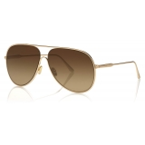 Tom Ford - Alec Sunglasses - Pilot Sunglasses - Rose Gold - FT0824 - Sunglasses - Tom Ford Eyewear