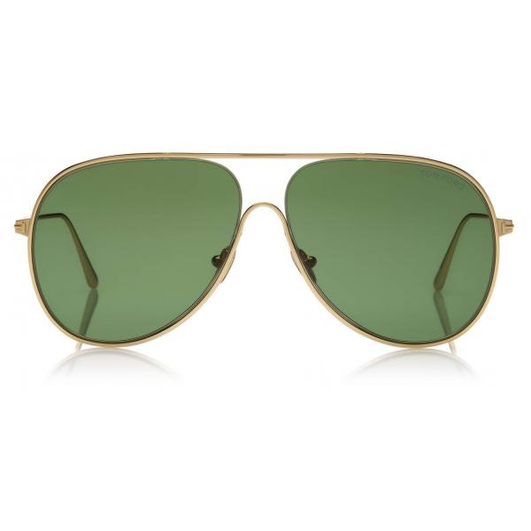 Tom Ford - Alec Sunglasses - Pilot Sunglasses - Deep Gold - FT0824 - Sunglasses - Tom Ford Eyewear