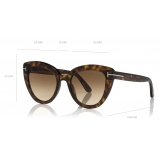 Tom Ford - Izzi Sunglasses - Cat-Eye Sunglasses - Dark Havana - FT0845 - Sunglasses - Tom Ford Eyewear