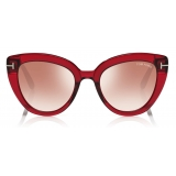 Tom Ford - Izzi Sunglasses - Cat-Eye Sunglasses - Red - FT0845 - Sunglasses - Tom Ford Eyewear