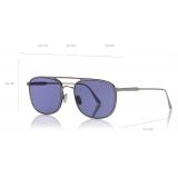 Tom Ford - Jake Sunglasses - Square Sunglasses - Light Ruthenium - FT0827 - Sunglasses - Tom Ford Eyewear