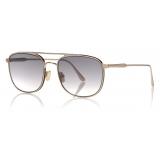 Tom Ford - Jake Sunglasses - Square Sunglasses - Gold - FT0827 - Sunglasses - Tom Ford Eyewear