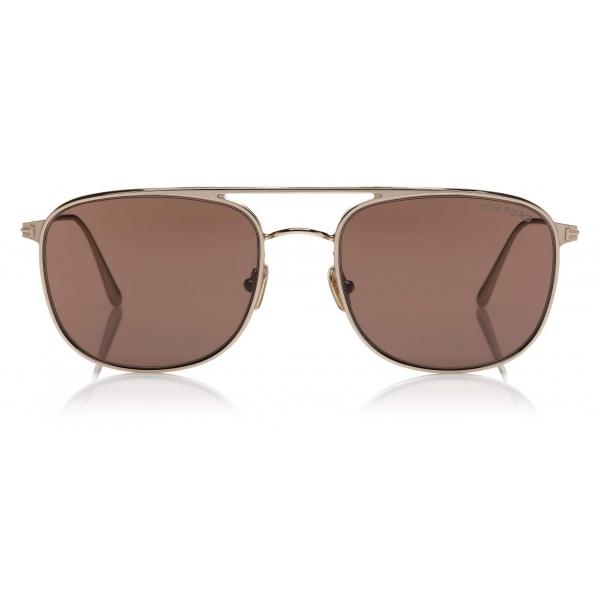 Tom Ford - Jake Sunglasses - Square Sunglasses - Rose Gold Brown - FT0827 - Sunglasses - Tom Ford Eyewear