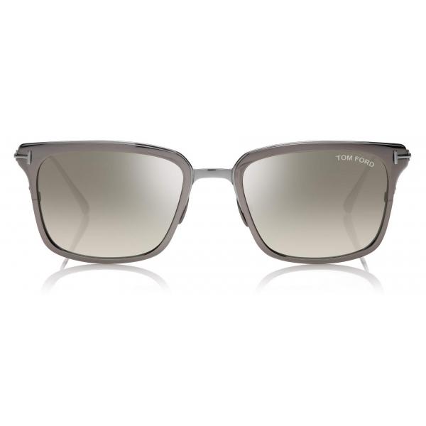 Tom Ford - Hayden Sunglasses - Square Sunglasses - Dark Ruthenium - FT0831 - Sunglasses - Tom Ford Eyewear