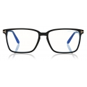 Tom Ford -  Soft Square Shape Blue Block Optical - Black - FT5696-B - Optical Glasses - Tom Ford Eyewear