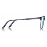 Tom Ford -  Soft Square Shape Blue Block Optical - Blue - FT5696-B - Optical Glasses - Tom Ford Eyewear