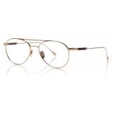 Tom Ford - Titanium Pilot Optical - Shiny Rose Gold - FT5716-P - Optical Glasses - Tom Ford Eyewear