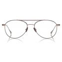 Tom Ford - Titanium Pilot Optical - Dark Ruthenium - FT5716-P - Optical Glasses - Tom Ford Eyewear