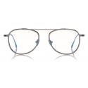 Tom Ford - Round Shape Blue Block Optical - Silver - FT5691-B - Optical Glasses - Tom Ford Eyewear