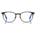 Tom Ford - Blue Block Rounded Opticals - Round Optical Glasses - Black - FT5732-B - Optical Glasses - Tom Ford Eyewear
