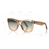 Tom Ford - Wallace Sunglasses - Cat-Eye Sunglasses - Green - FT0870 - Sunglasses - Tom Ford Eyewear