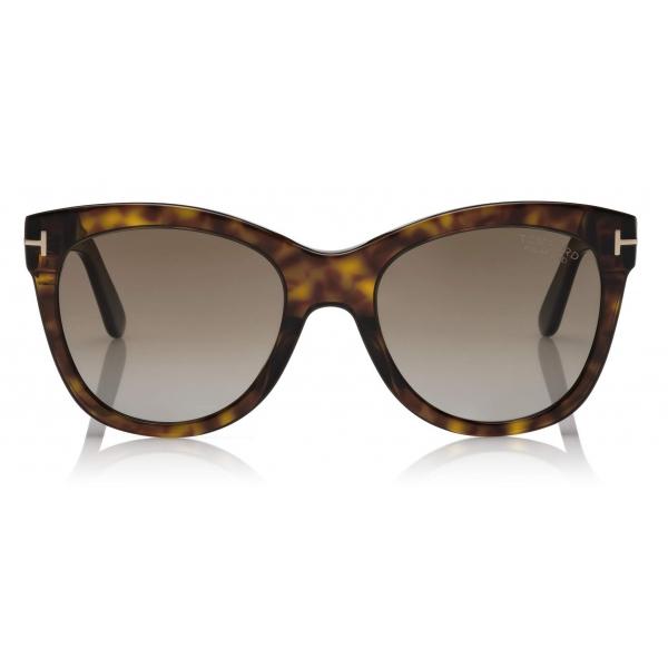 Tom Ford - Wallace Sunglasses - Cat-Eye Sunglasses - Dark Havana - FT0870 - Sunglasses - Tom Ford Eyewear