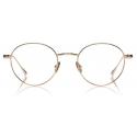 Tom Ford - Titanium Leather Temple Optical - Shiny Rose Gold - FT5717-P - Optical Glasses - Tom Ford Eyewear